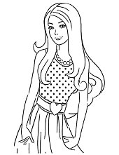 Barbie and Ken - coloring pages for girls to print for free