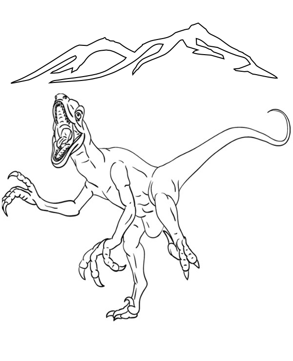 Scary Dinosaur Coloring Pages Printable Coloring Pages