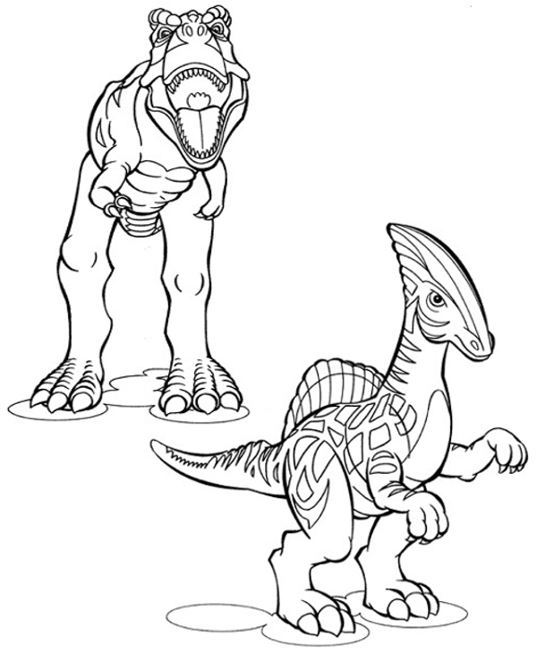 Printable coloring pages with dinosaurs