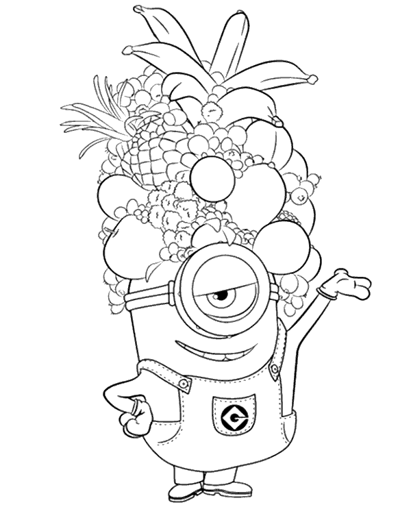 Minions coloring pagesbook for free to print Gru Bob Stuart Kevin