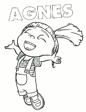 Happy Agnes printable image
