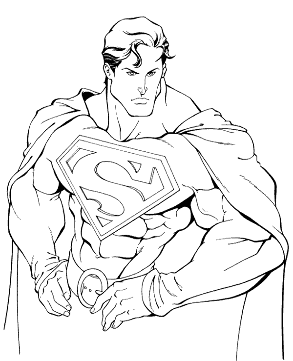 Highquality Superman colouring