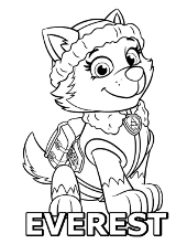 chase free coloring page coloring page with everest printable pictures paw patrol - Free Printable Paw Patrol Coloring Pages