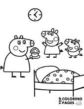 graphic about Peppa Pig Character Free Printable Images referred to as Printable Peppa Pig coloring webpages for no cost, George, mummy