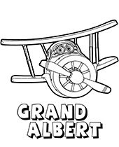 Grand Albert coloring book