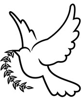 Dove of peace printable tattoos to color