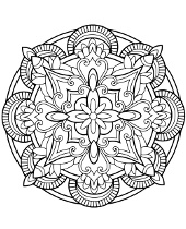 Mandalas on free coloring pages