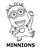 Minions printable coloring sheets for children