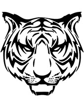 Tiger head printable tattoo design