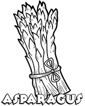 Asparagus free vegetables coloring pages
