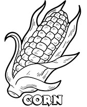 Free printable images to color with corn