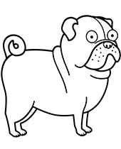Funny coloring page with a dog