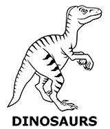 Dinosaur coloring sheet for kids