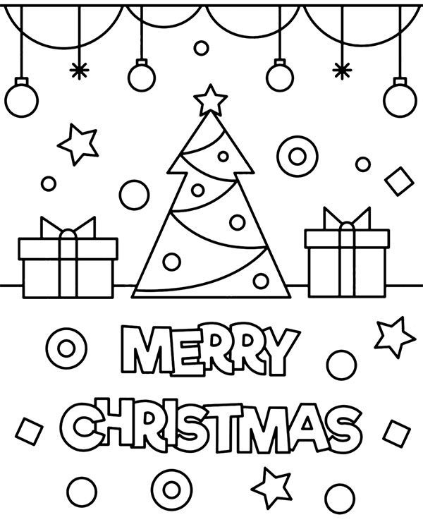 merry christman printable greeting card