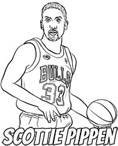 Scottie Pippen Chicago Bulls coloring page