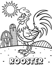 A funny picture of a rooster