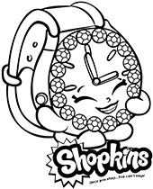 Shopkins watch for girls to color