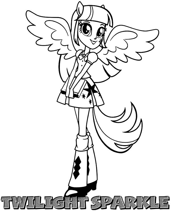 Printable Twilight Sparkle coloring page