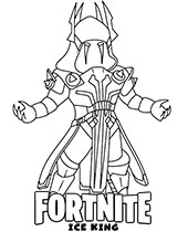 Ice King coloring page Fortnite series