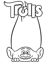 Trolls coloring page to print