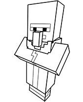 Villager in straitjacket coloring page