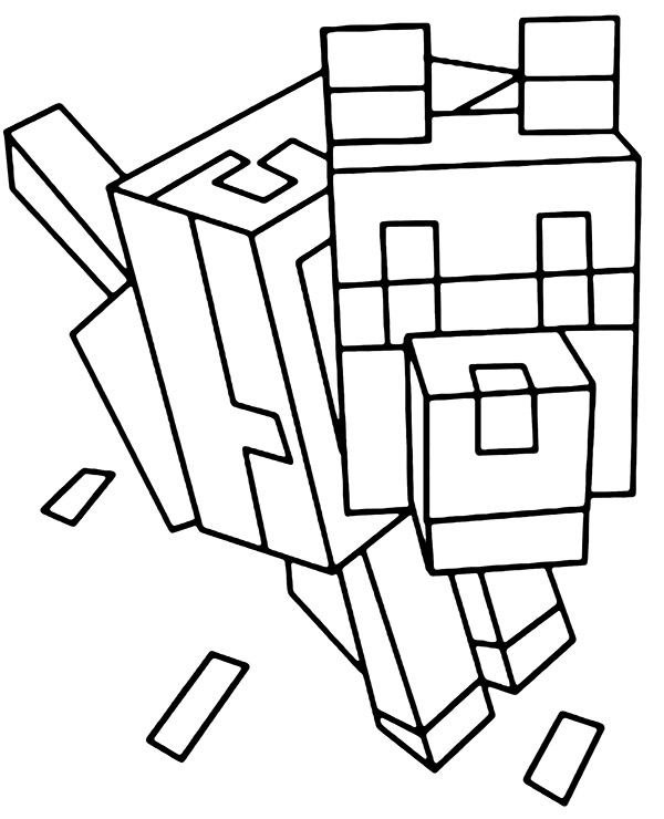 Minecraft animal coloring page dog