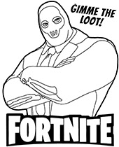 Good quality Fortnite coloring page