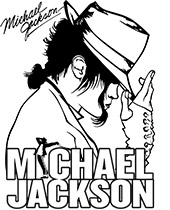 Michael Jackson printable coloring sheet