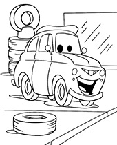 Car Luigi coloring pages Cars