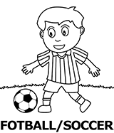 Soccer coloring pictures for kids category