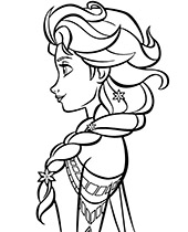 Elsa picture to print and color Frozen